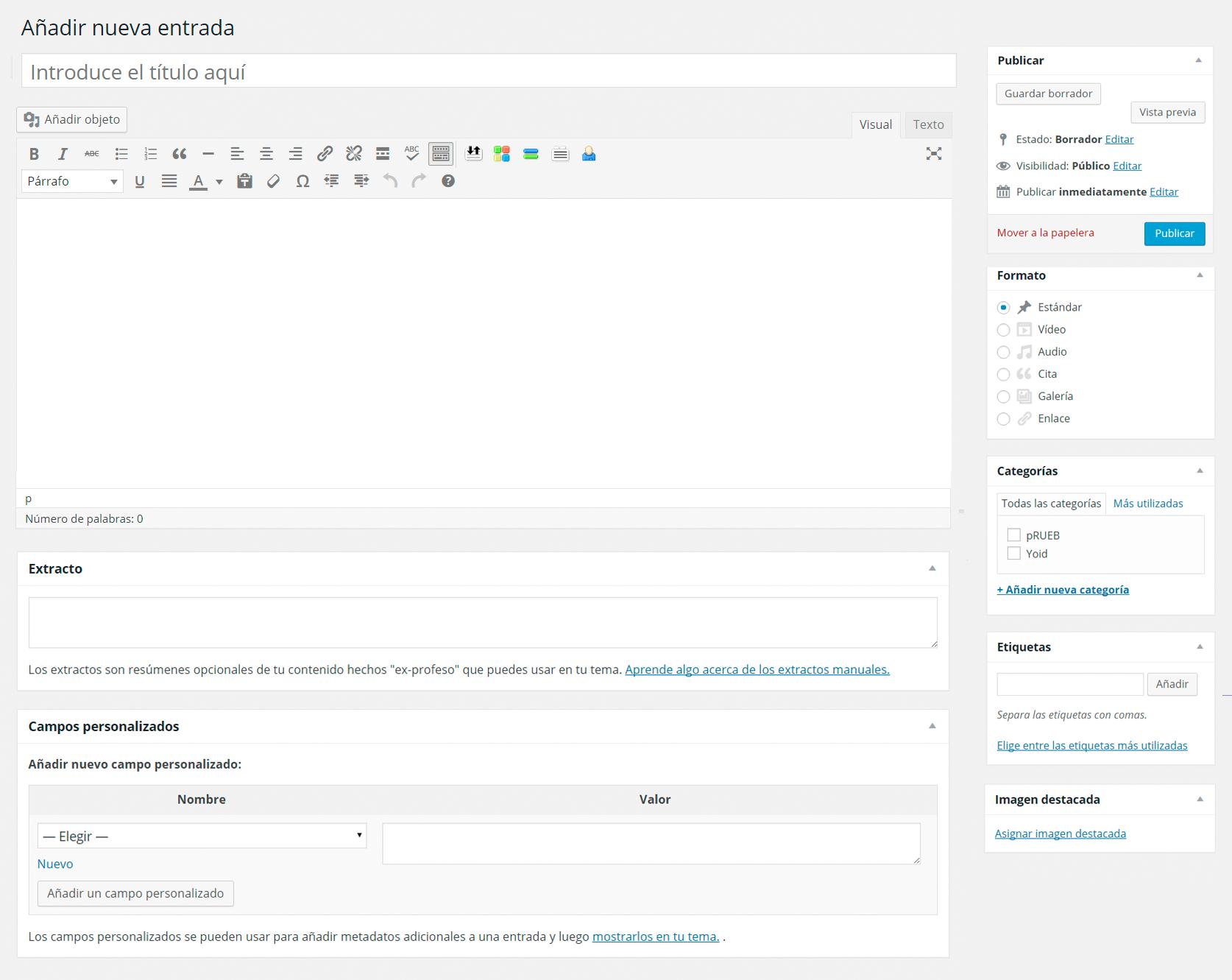 Imagen 3 en WordPress tutorial: Escribir entradas