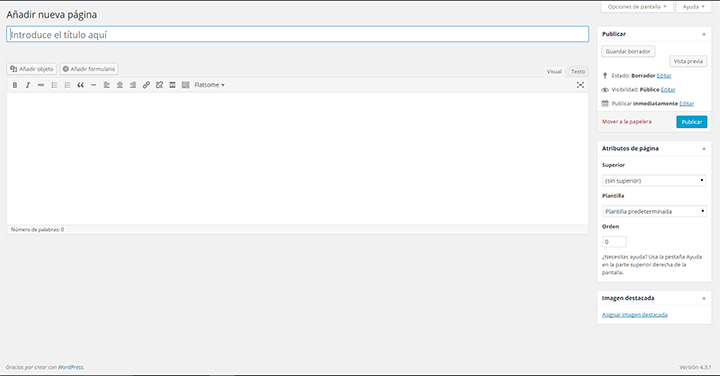 Imagen 0 en WordPress tutorial: Crear páginas