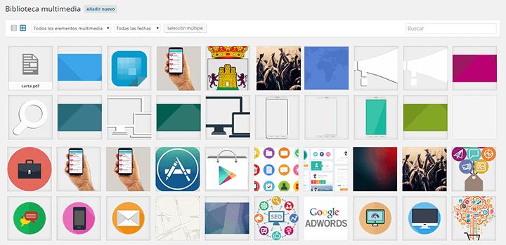 Imagen 0 en WordPress tutorial: Biblioteca de medios