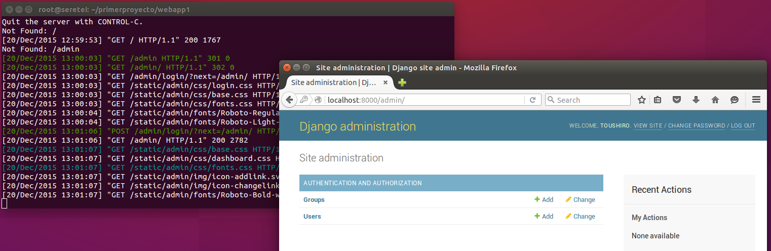 Imagen 23 en Cómo instalar Django 1.9 en Ubuntu 15.10