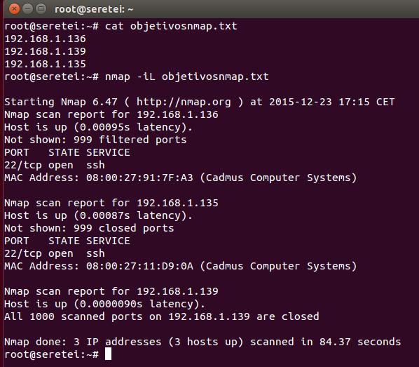 Imagen 7 en Nmap, uso básico para rastreo de puertos