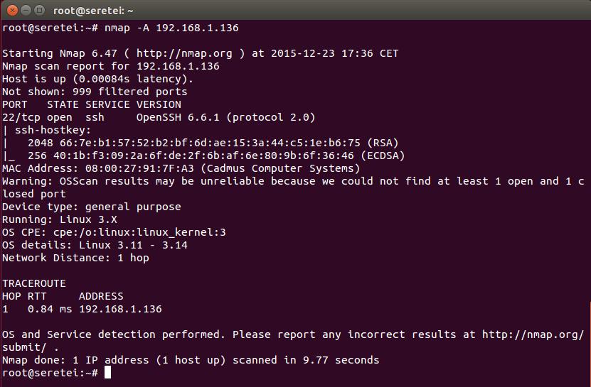 Imagen 11 en Nmap, uso básico para rastreo de puertos