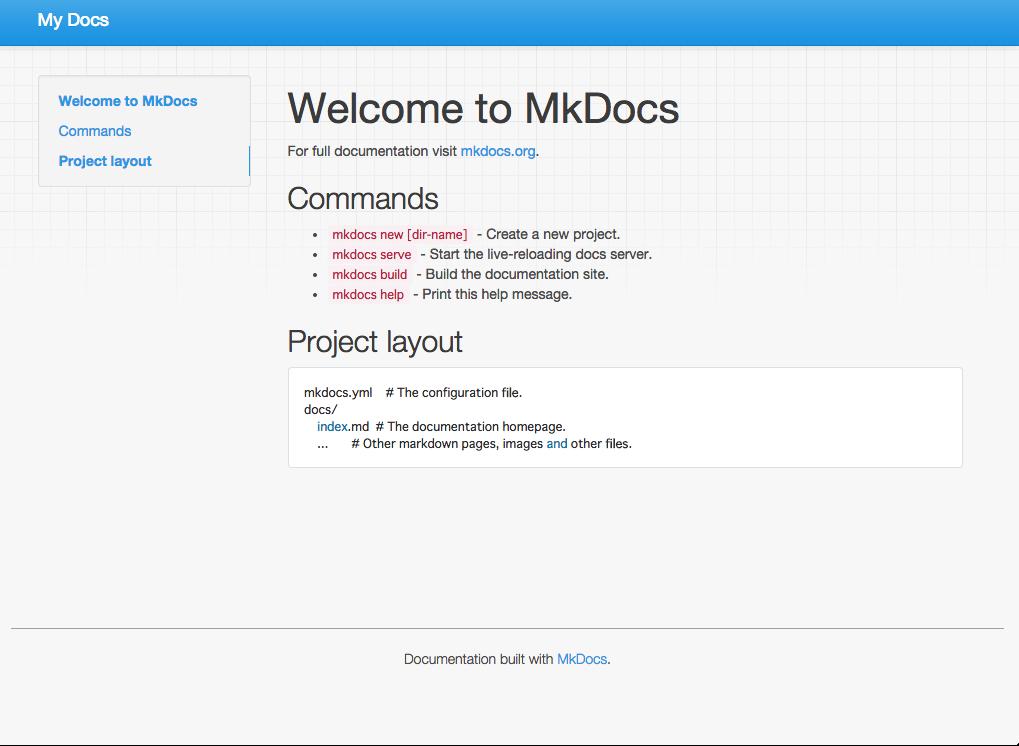 Imagen 0 en Crea la documentación de tu proyecto con MkDocs