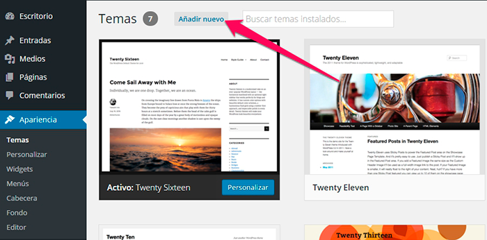 Imagen 1 en WordPress Tutorial: Instalar themes