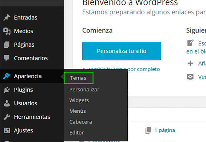 Imagen 0 en WordPress Tutorial: Instalar themes