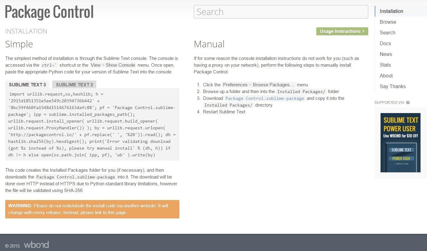 Imagen 1 en Instalar Sublime Text 3 y Package Controller