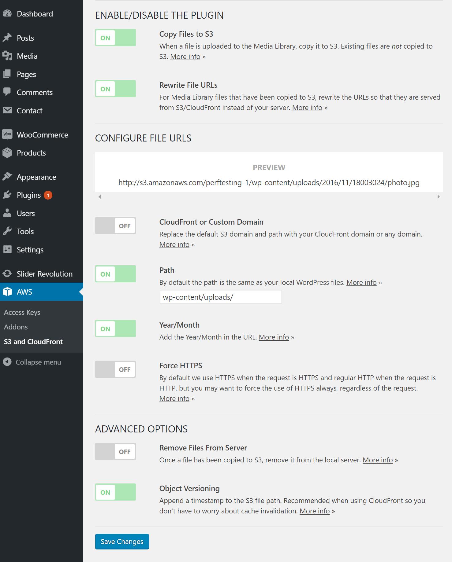 Imagen 4 en CloudFront en WordPress con el plugin WP Offload S3