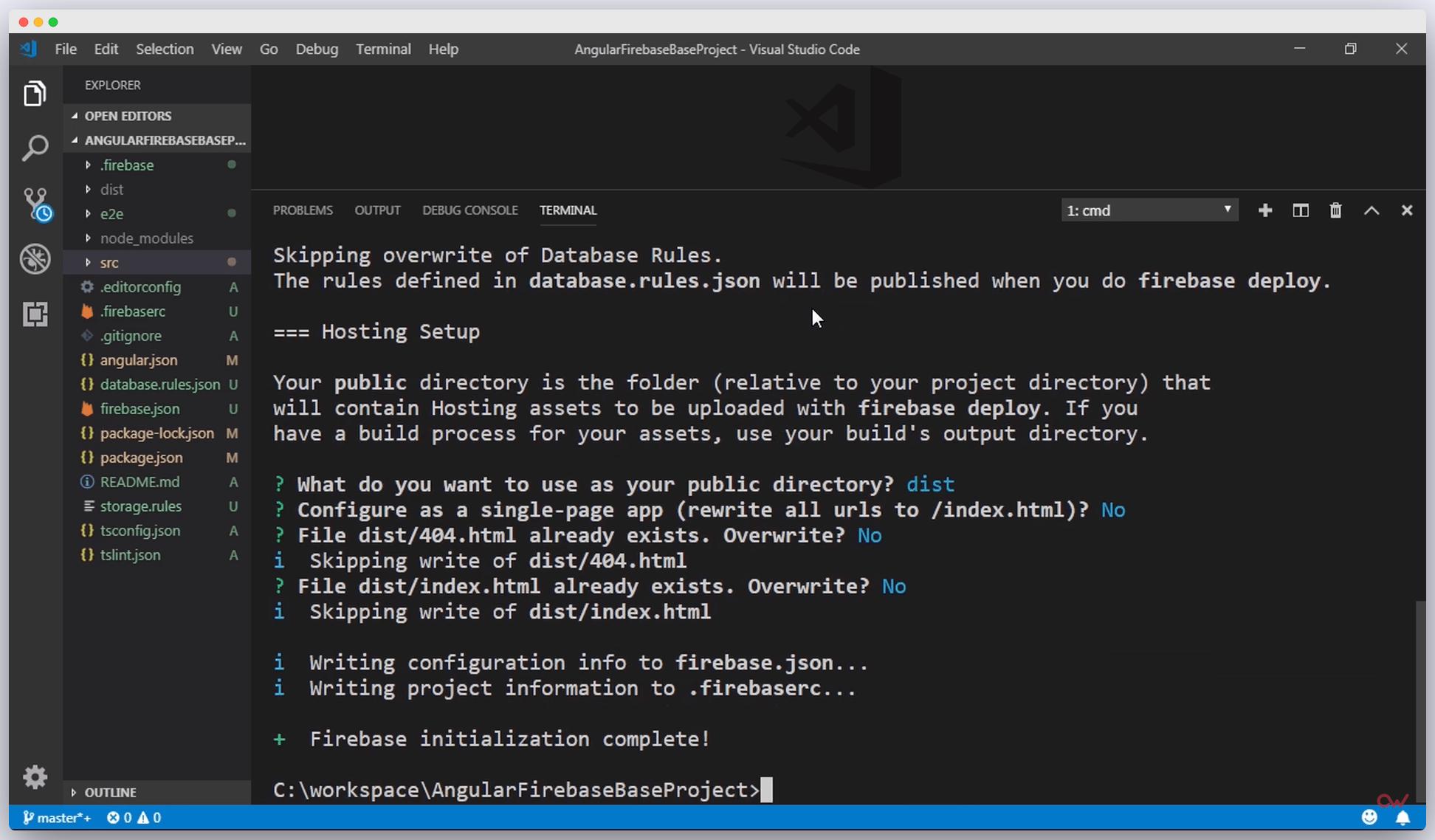 Imagen 4 en Cómo configurar un proyecto de Angular con Firebase