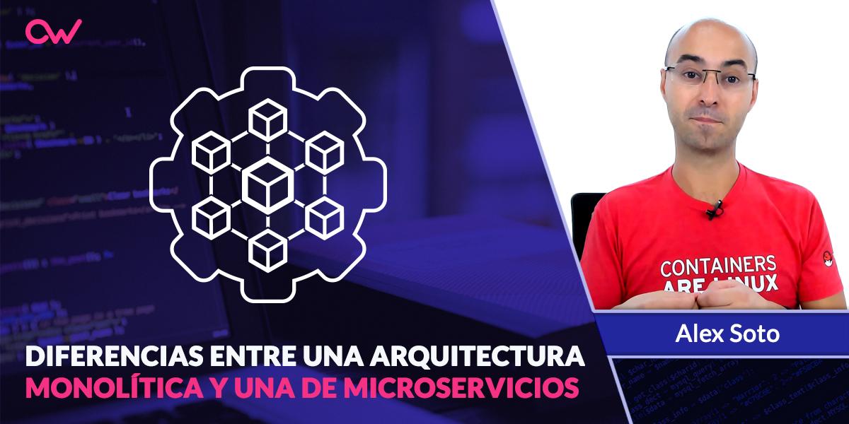 Diferencia entre arquitectura monolítica y de microservicios