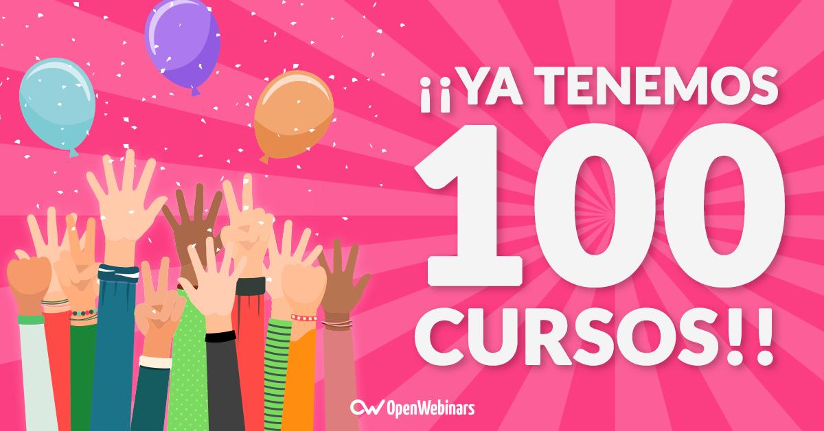 ¡¡Ya tenemos 100 cursos!!