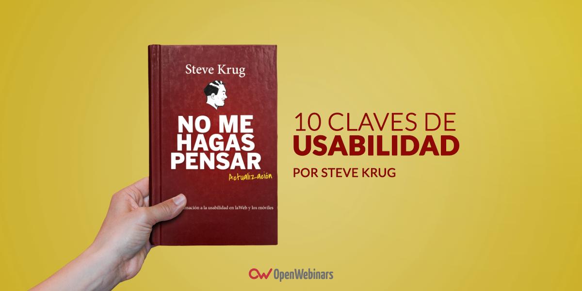 10 claves de usabilidad de Steve Krug