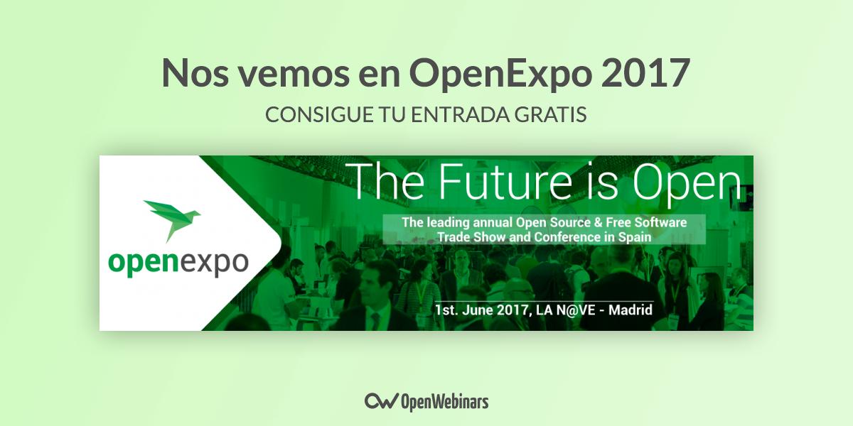 ¿Quieres conseguir una entrada para OpenExpo 2017?