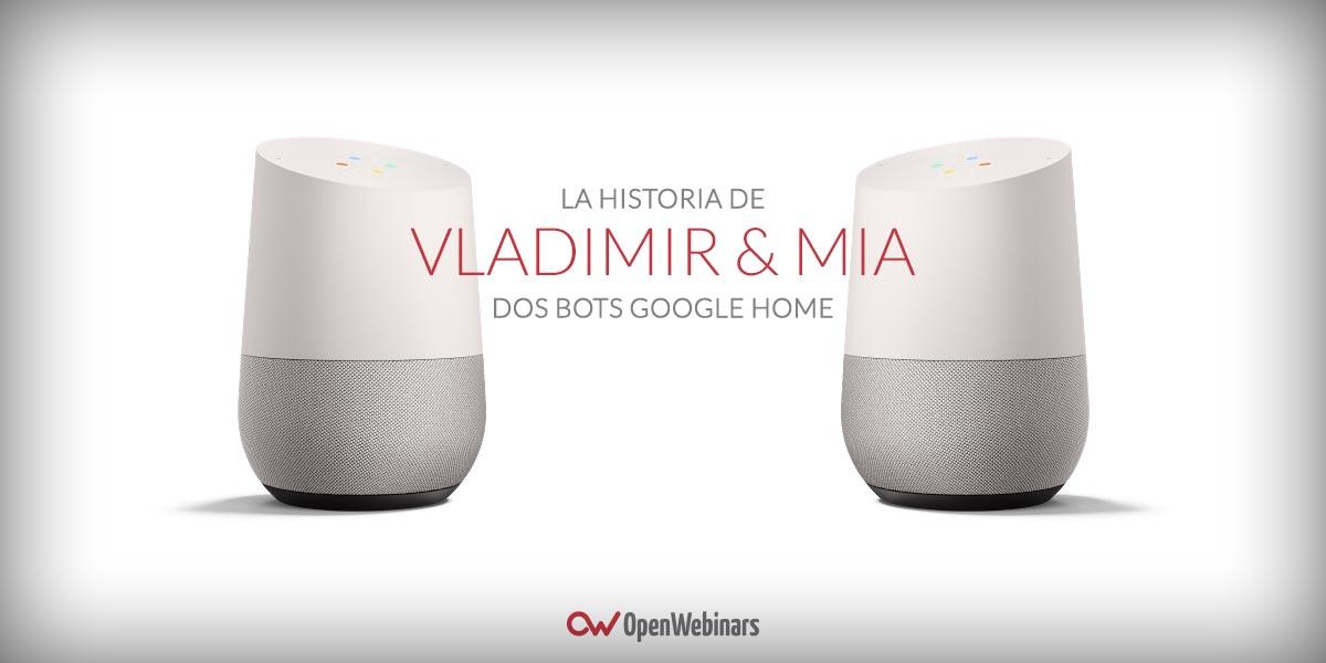 Dos robots Google Home hablan durante horas
