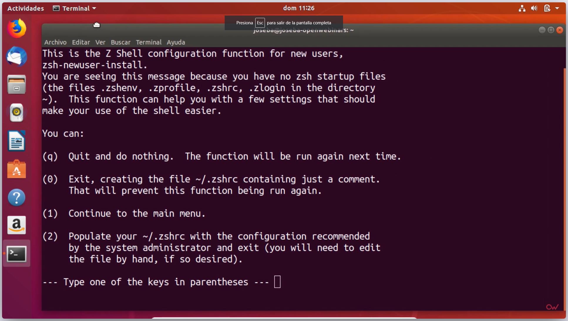 Imagen 1 en Cómo customizar la Shell de Linux con ZSH