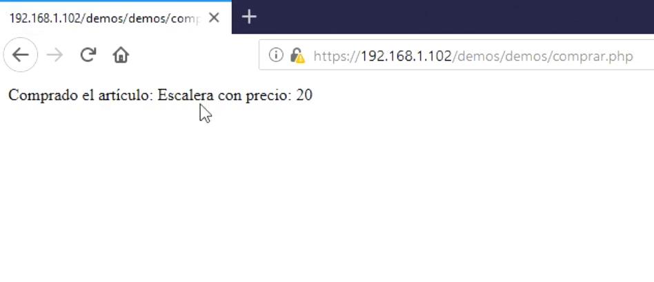 Imagen 4 en Realizar un ataque Parameter Tampering