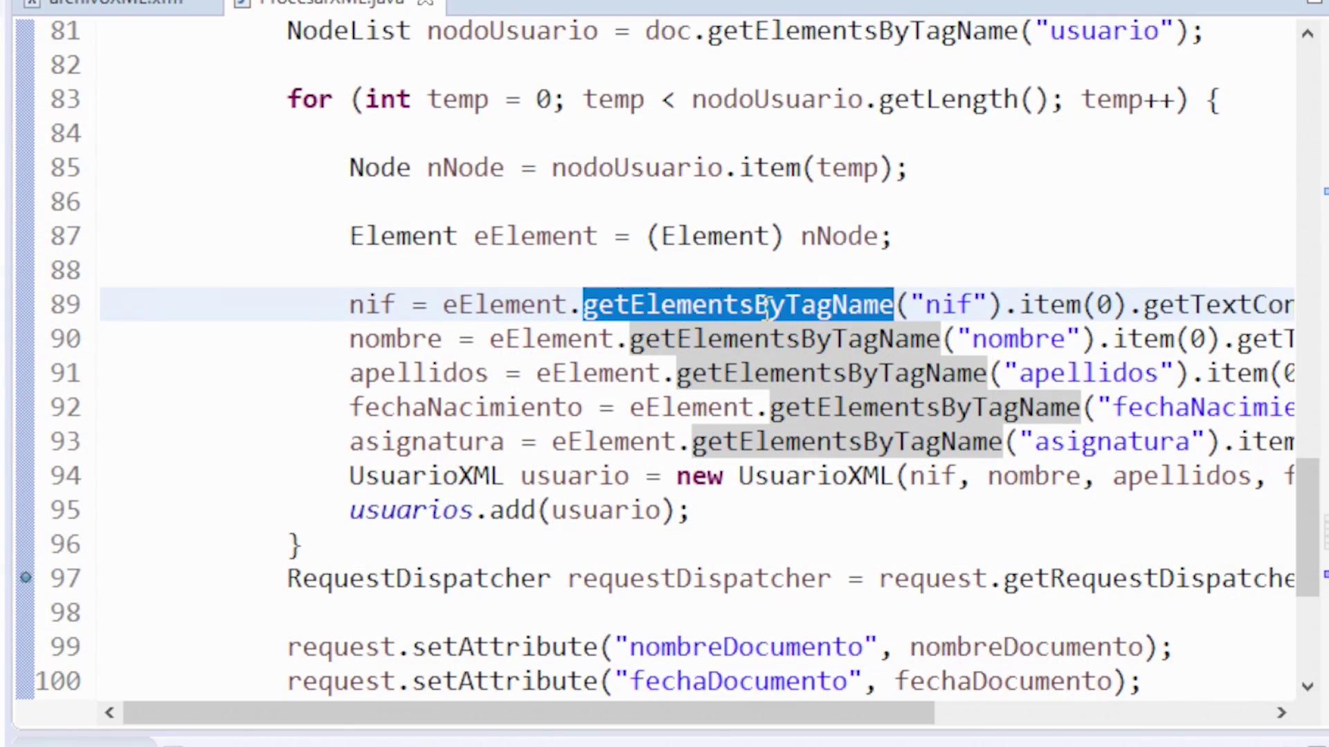 Imagen 2 en Cómo leer un fichero XML en Java